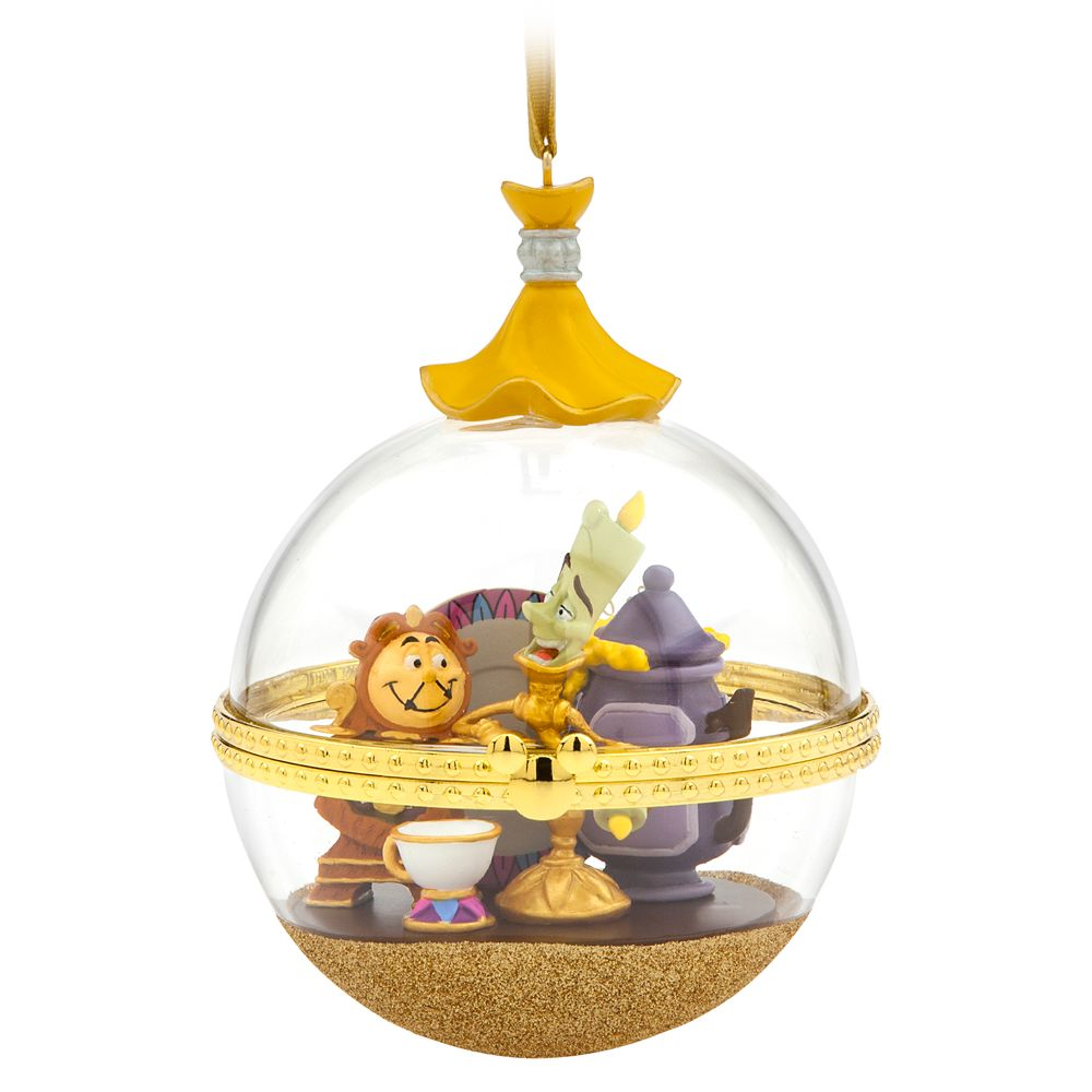 Lumiere and Cogsworth Disney Duos Sketchbook Ornament  Beauty and the Beast  March  Limited Release