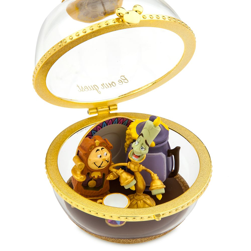 Lumiere and Cogsworth Disney Duos Sketchbook Ornament – Beauty and the Beast – March – Limited Release