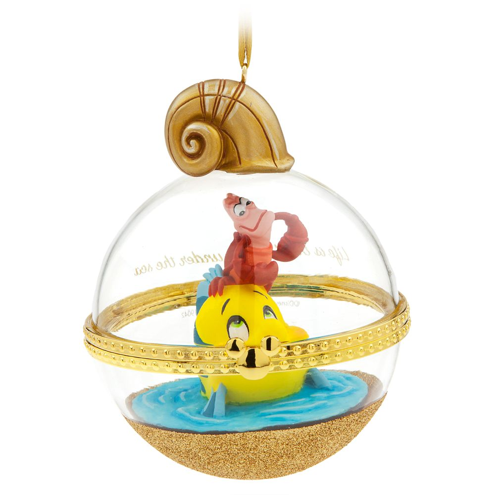 Sebastian and Flounder Disney Duos Sketchbook Ornament – The Little Mermaid – June – Limited Release