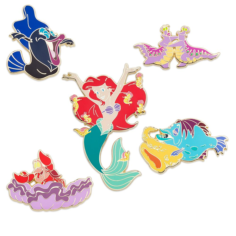 The Little Mermaid 30th Anniversary Pin Set  Limited Release Official shopDisney