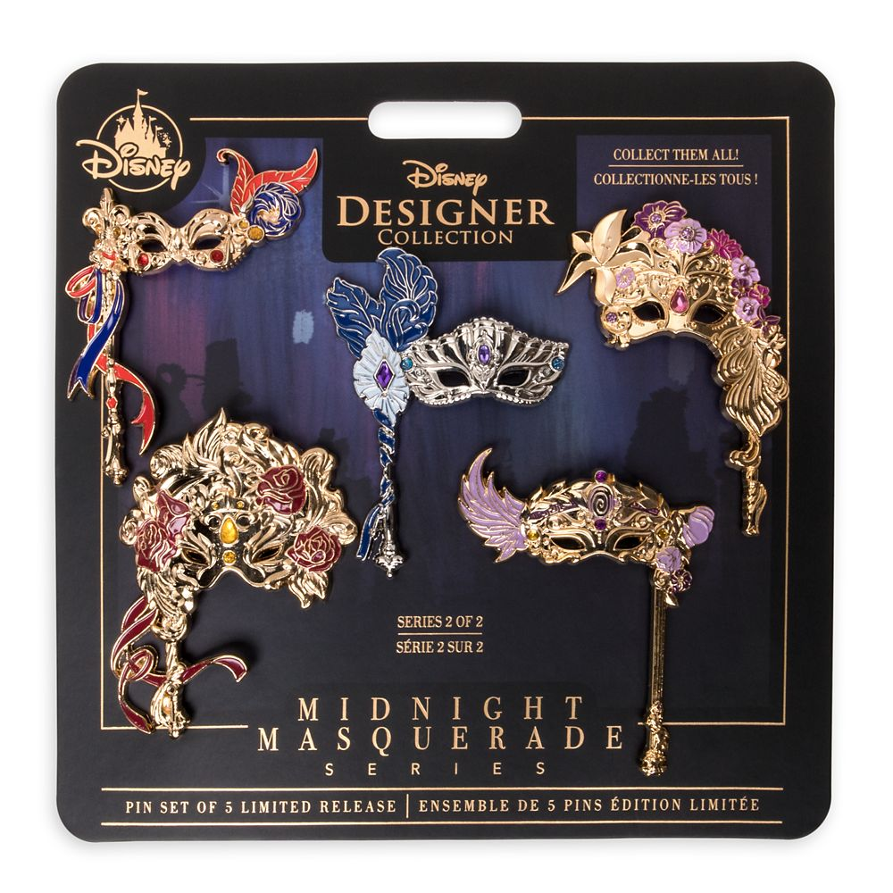 Disney Designer Collection Midnight Masquerade Pin Set 2 – Limited Release