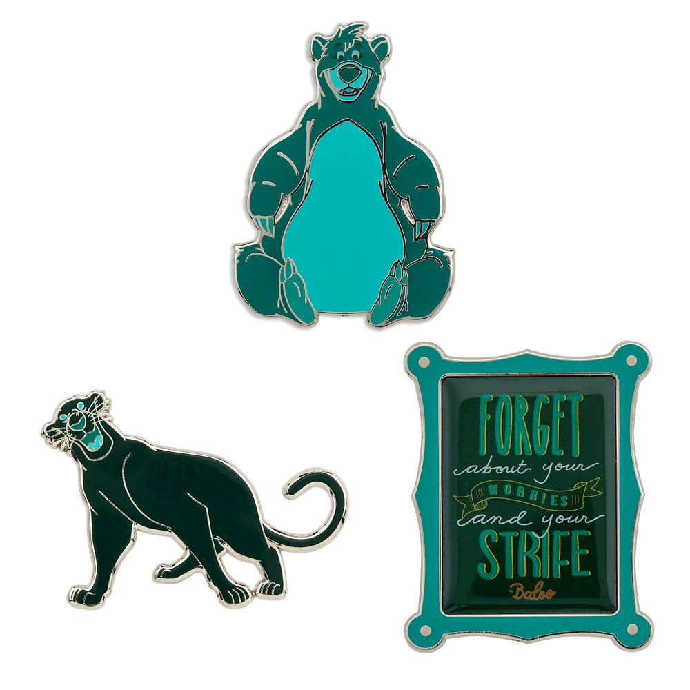 Disney Wisdom Pin Set  The Jungle Book  March  Limited Release
