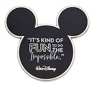 Disney Wisdom Walt Disney Quote Pin -