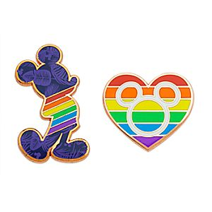 Rainbow Disney Collection Mickey Mouse Pin Set