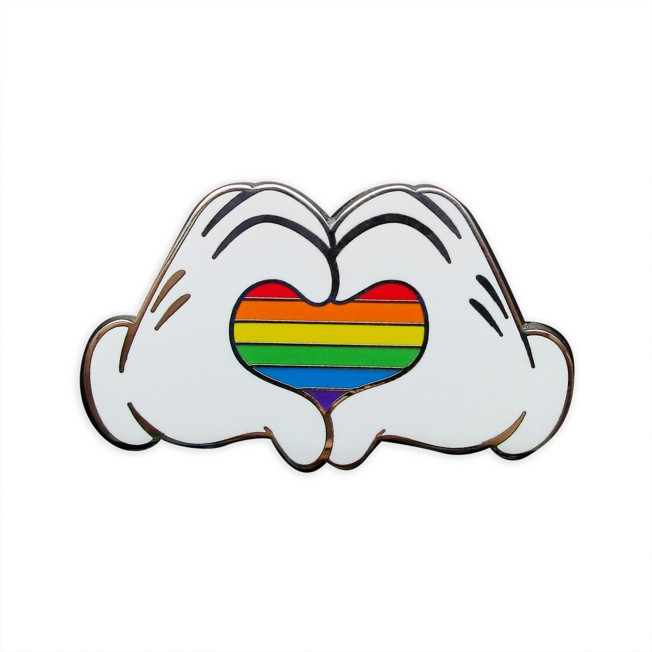 Mickey Mouse Heart Hands Pin – Rainbow Disney Collection