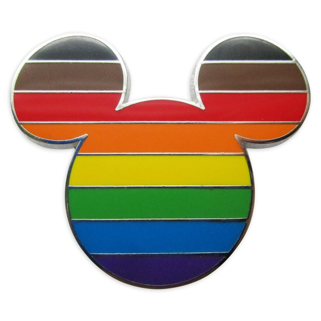 Mickey Mouse Icon Pin – Intersectional Flag – Rainbow Disney Collection