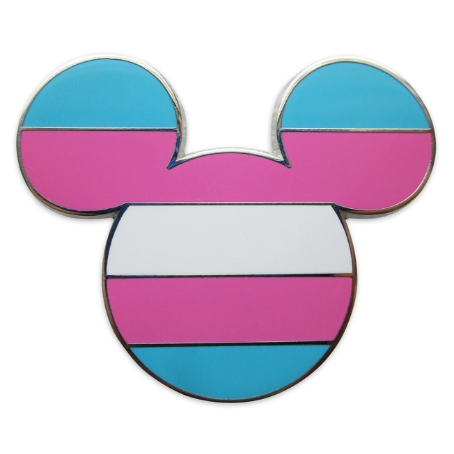 Mickey Mouse Icon Pin – Transgender Flag – Rainbow Disney Collection