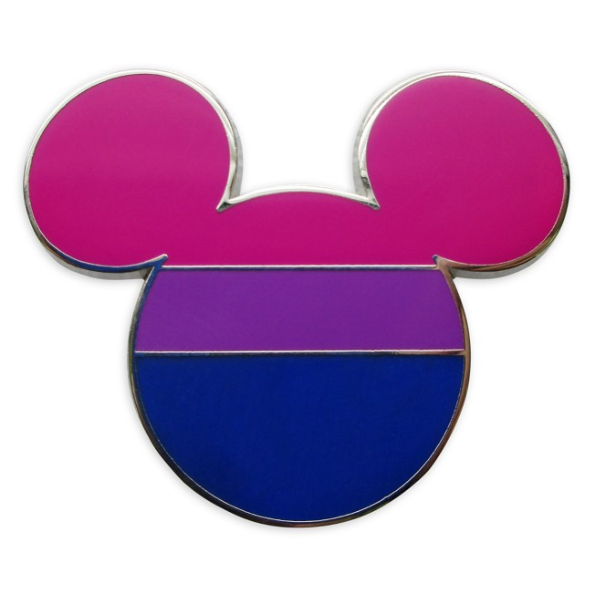 Mickey Mouse Icon Pin – Bisexual Flag – Rainbow Disney Collection