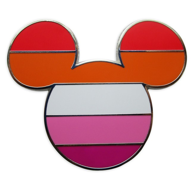 Mickey Mouse Icon Pin – Lesbian Flag – Rainbow Disney Collection