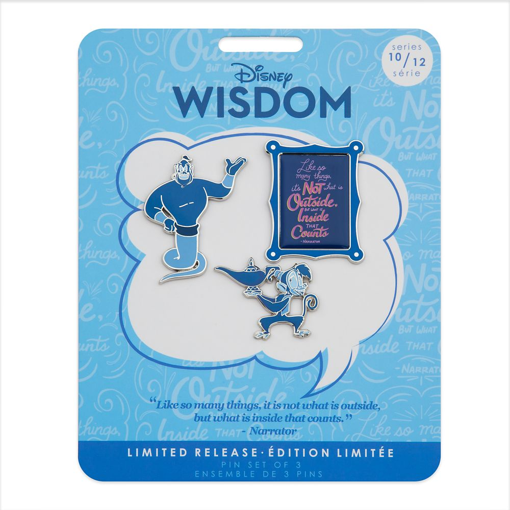 Disney Wisdom Pin Set – Genie – Aladdin – October – Limited Release