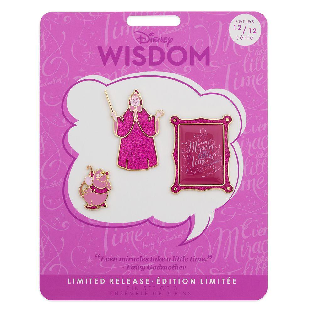 Disney Wisdom Pin Set – Fairy Godmother – Cinderella – December – Limited Release