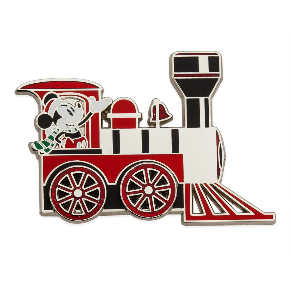 Mickey Mouse Holiday Train Pin
