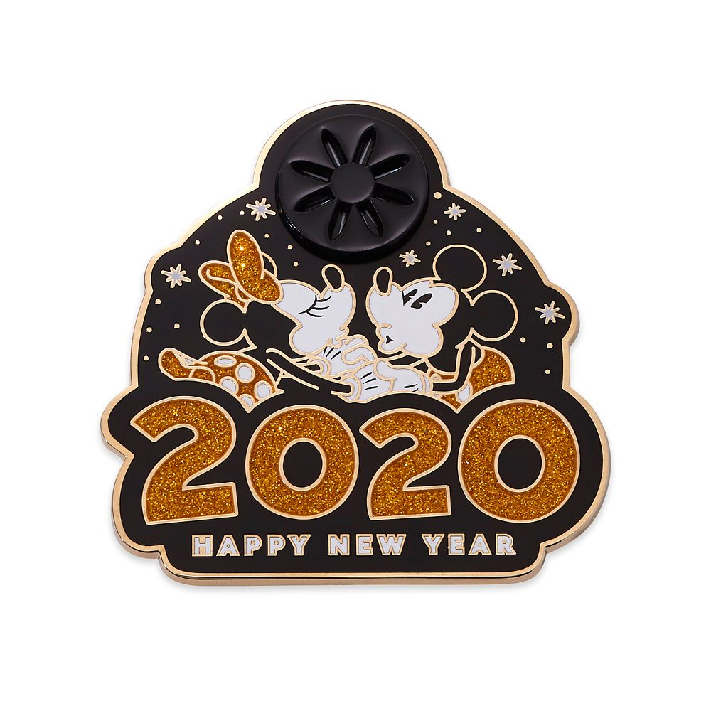 Mickey and Minnie Mouse Happy New Year 2020 Pin – Limited Edition
