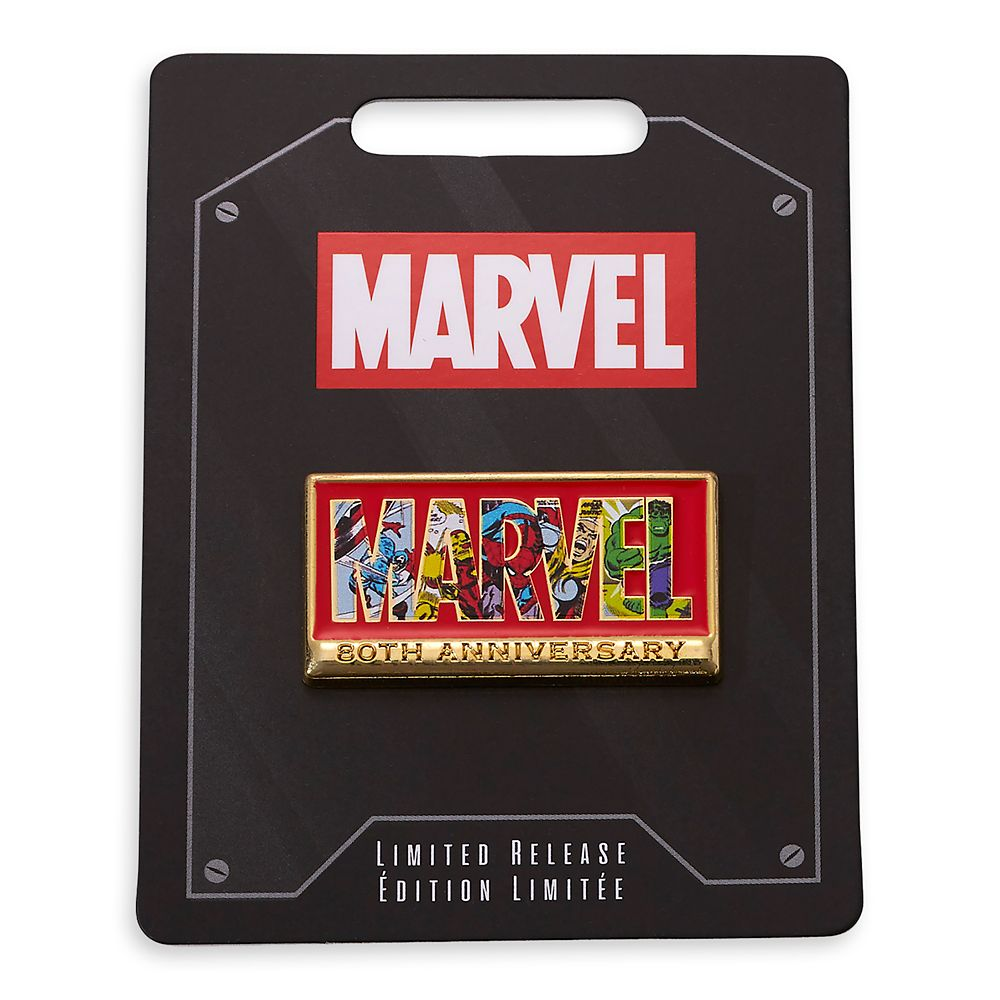 Marvel 80th Anniversary Logo Pin – Limited Release