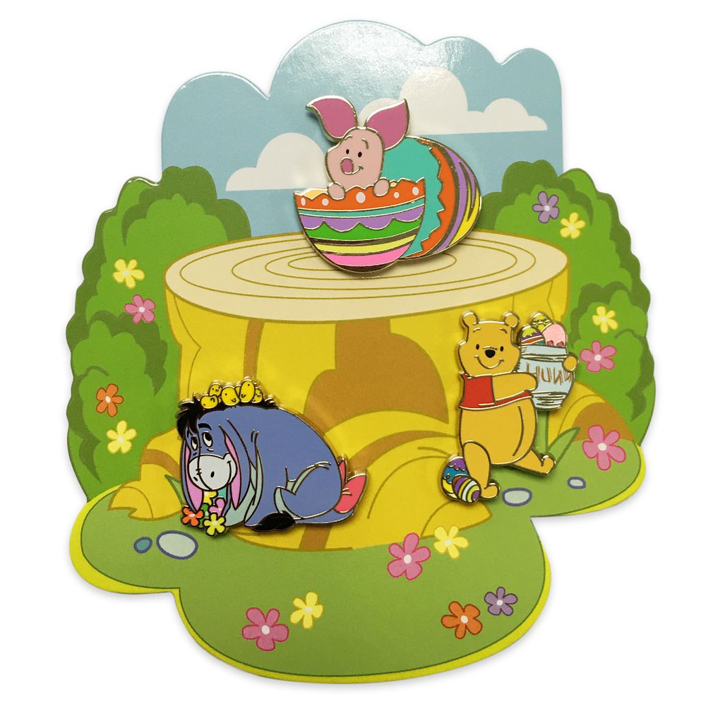 Winnie the Pooh and Pals Easter Flair Pin Set