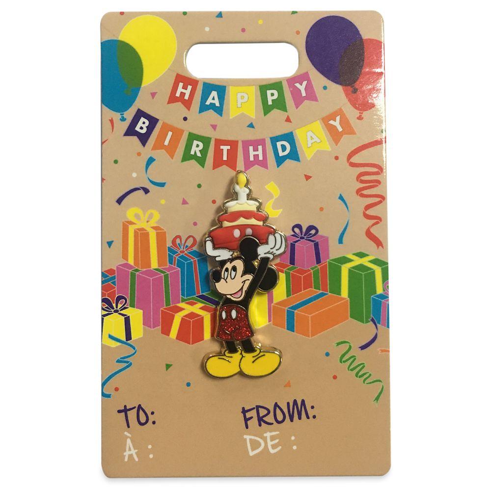 Mickey Mouse Flair Birthday Pin
