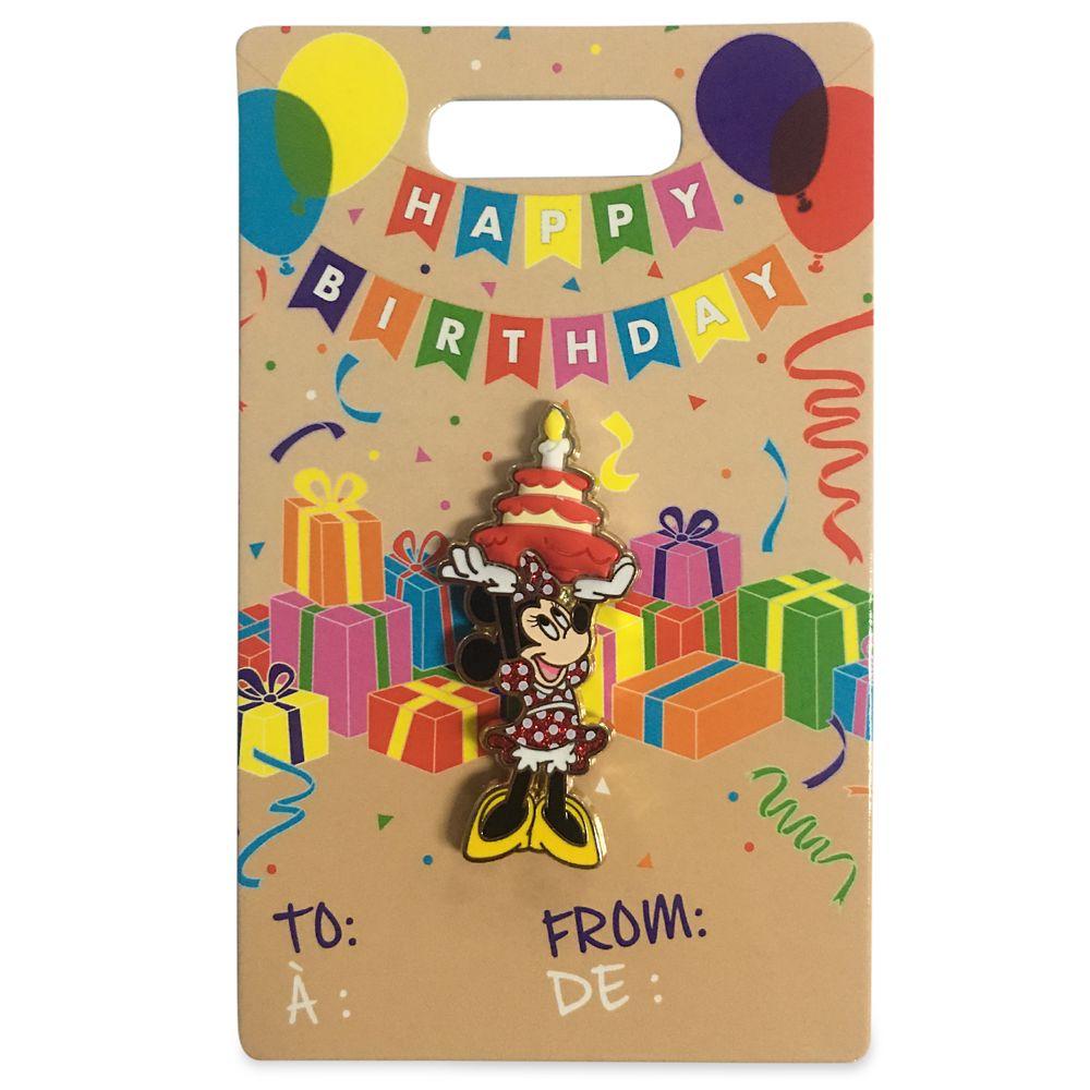 Minnie Mouse Flair Birthday Pin