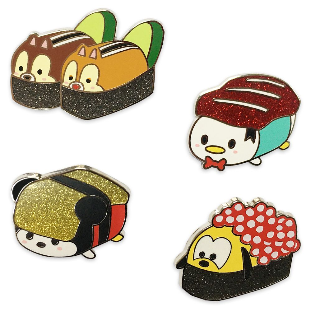 Mickey Mouse and Friends Sushi Flair Pin Set Official shopDisney