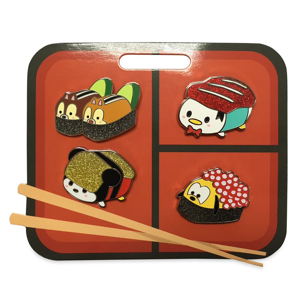 Mickey Mouse and Friends Sushi Flair Pin Set