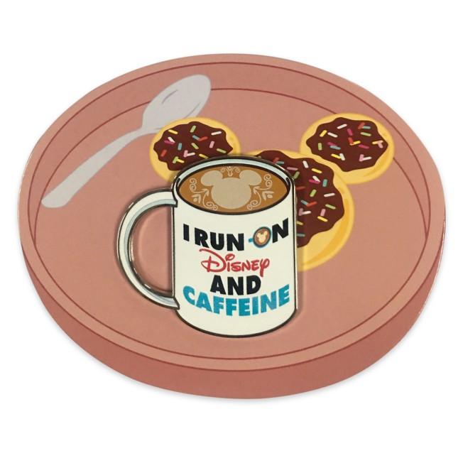 ''I Run on Disney and Caffeine'' Flair Pin