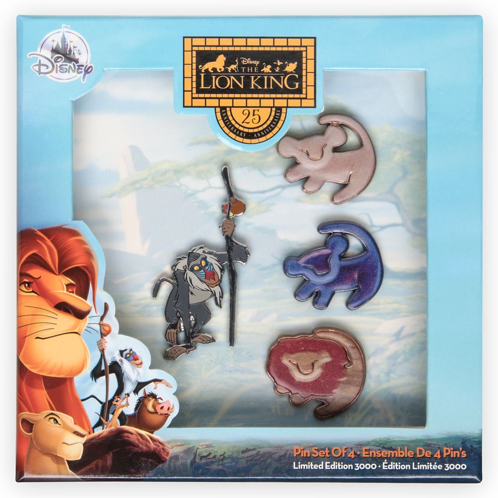 The Lion King 25th Anniversary Pin Set – Limited Edition