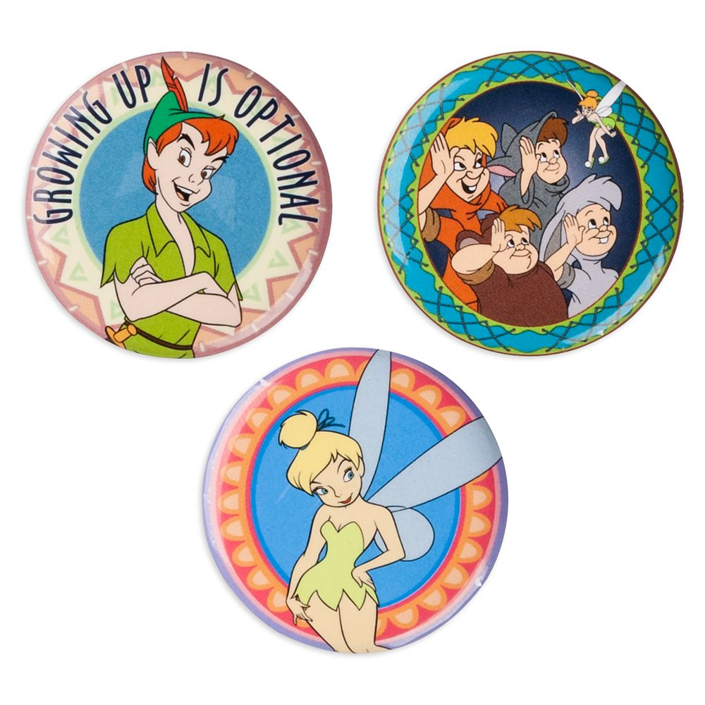 Peter Pan Button Set