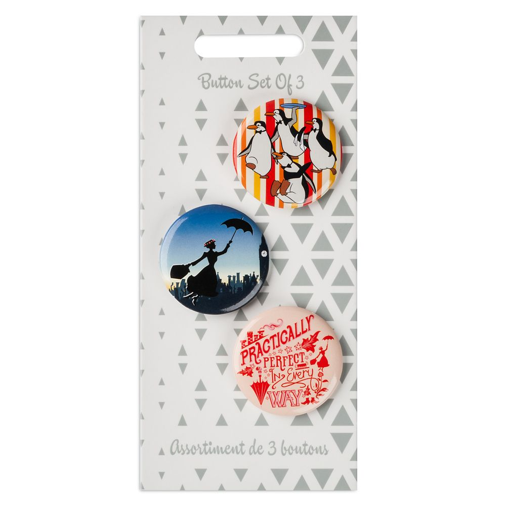 Mary Poppins Button Set