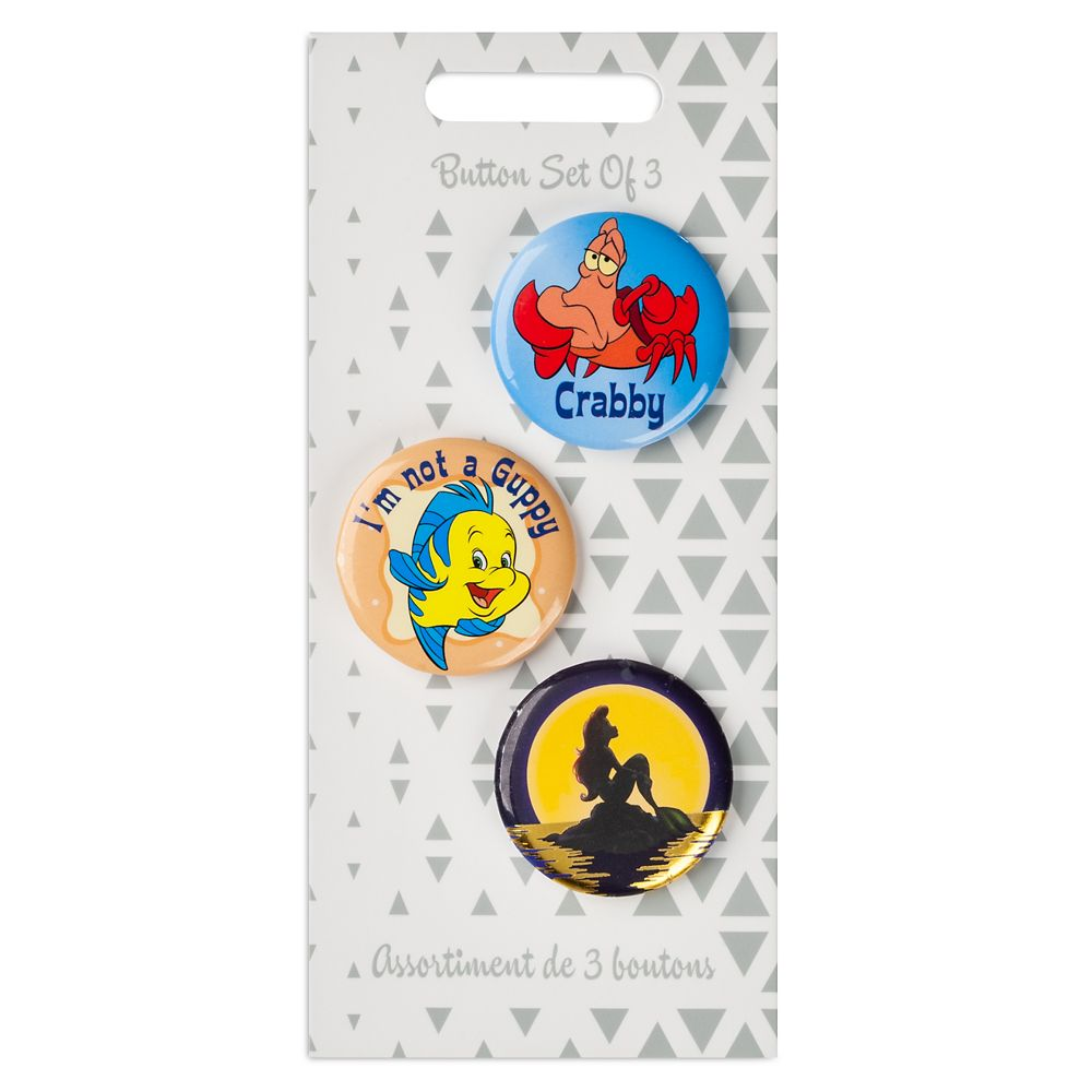 The Little Mermaid Button Set