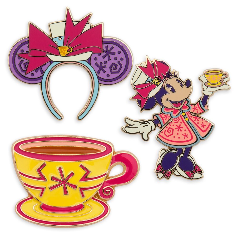 Minnie Mouse: The Main Attraction Pin Set – Mad Tea Party – Limited Release
