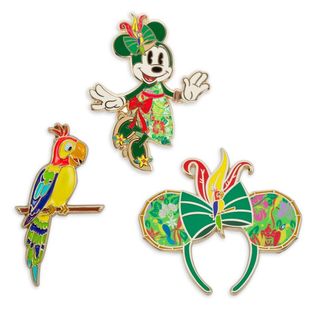 Minnie Mouse: The Main Attraction Pin Set – Enchanted Tiki Room – Limited Release