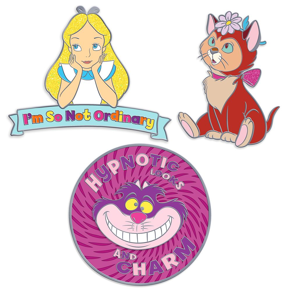 Alice in Wonderland Pin Set  Oh My Disney