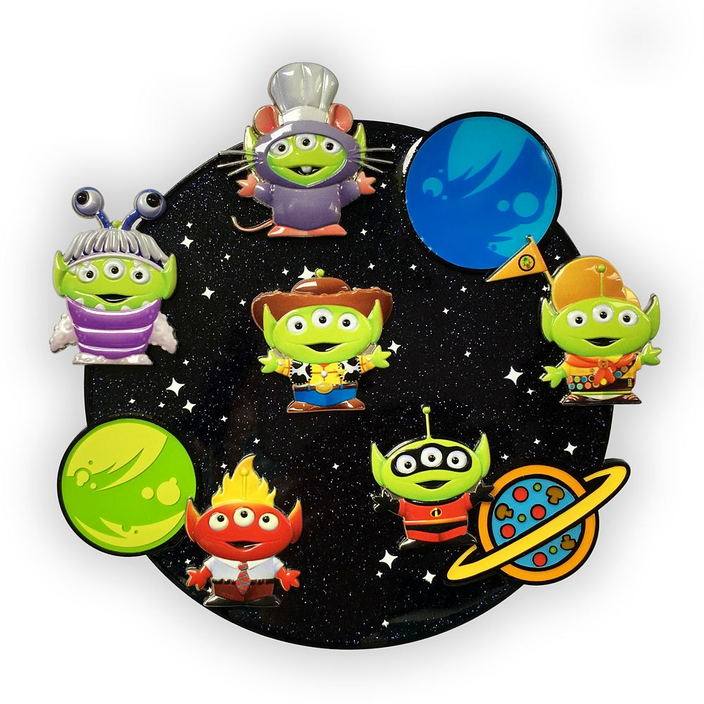 Toy Story Alien Pixar Remix Jumbo Pin Set – Limited Edition – Disney® Visa® Cardmember Exclusive