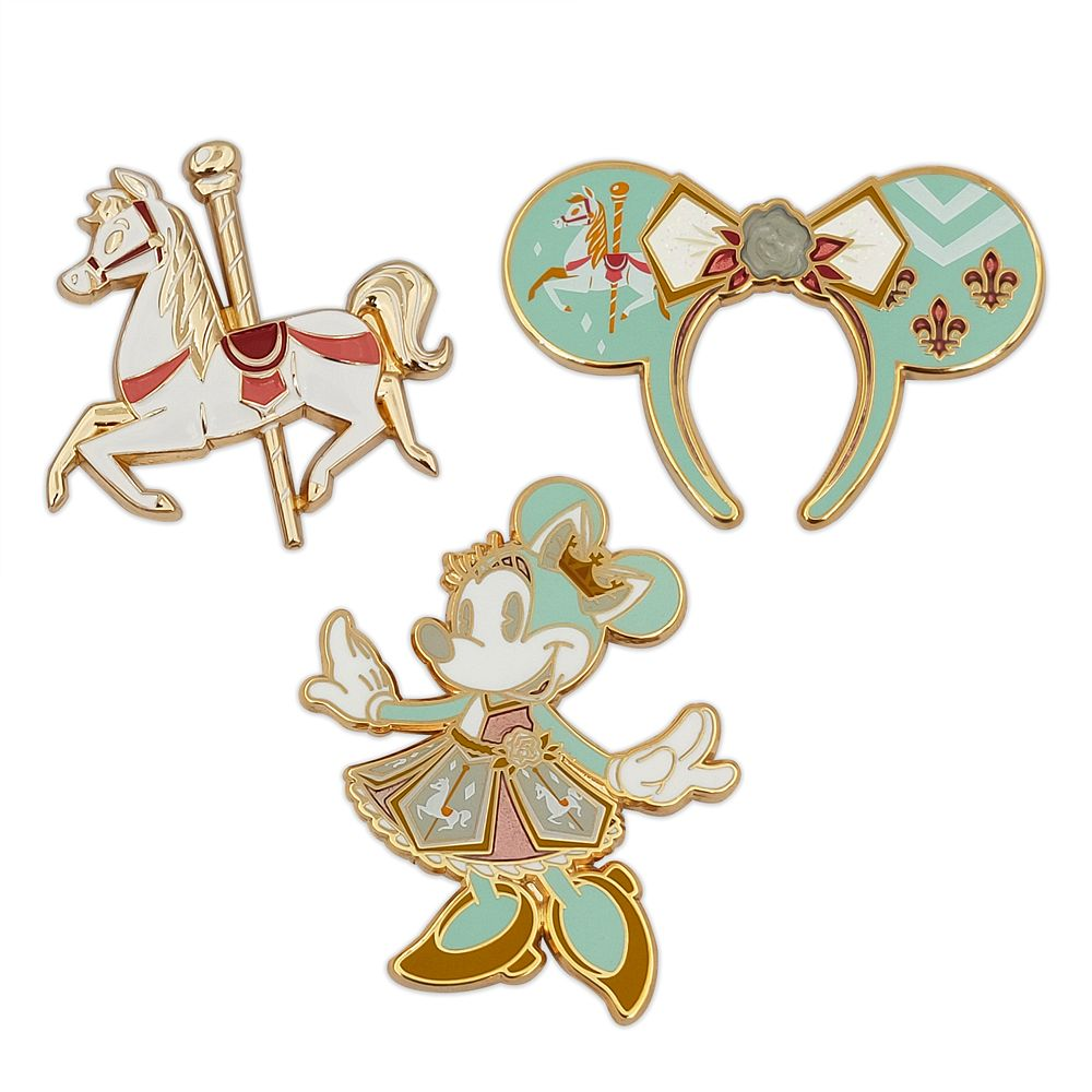 Minnie Mouse: The Main Attraction Pin Set – King Arthur Carrousel – Limited Release