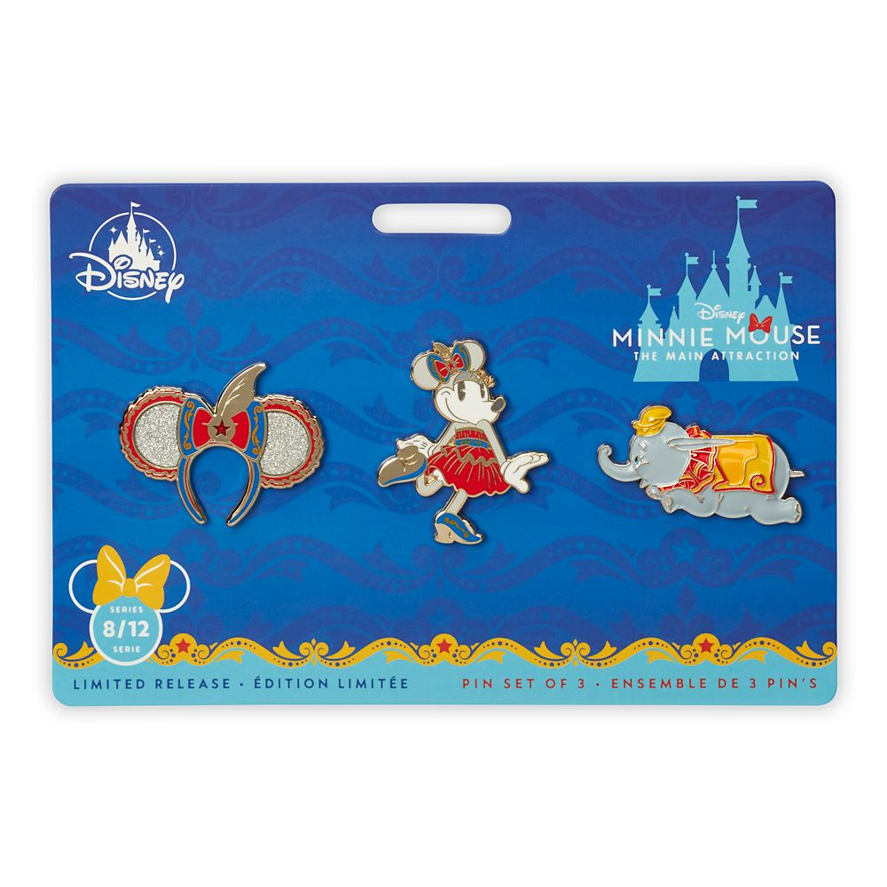 Minnie Mouse: The Main Attraction Pin Set – Dumbo, The Flying Elephant – Limited Release