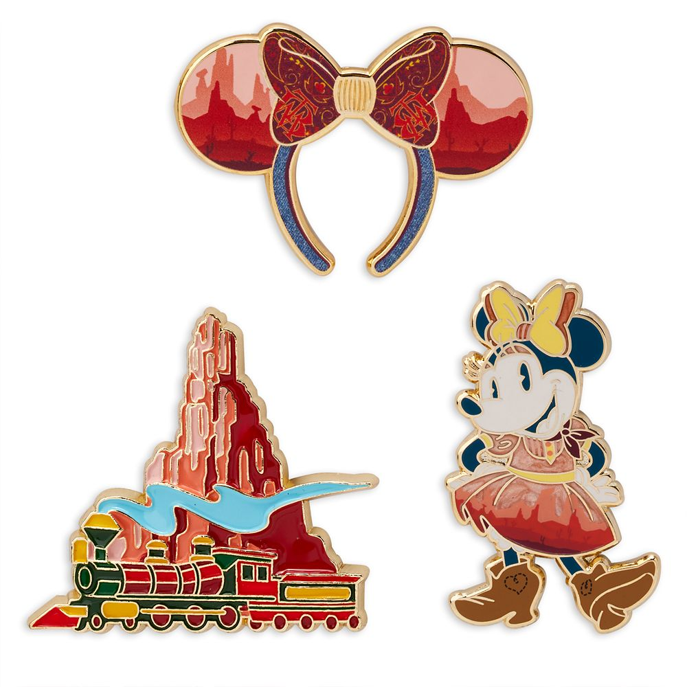 Minnie Mouse: The Main Attraction Pin Set – Big Thunder Mountain Railroad – Limited Release