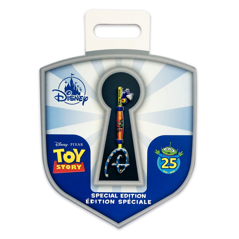 Toy Story 25th Anniversary Collectible Key Pin – Special Edition