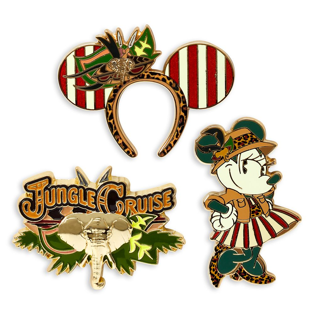 Minnie Mouse: The Main Attraction Pin Set – Jungle Cruise – Limited Release