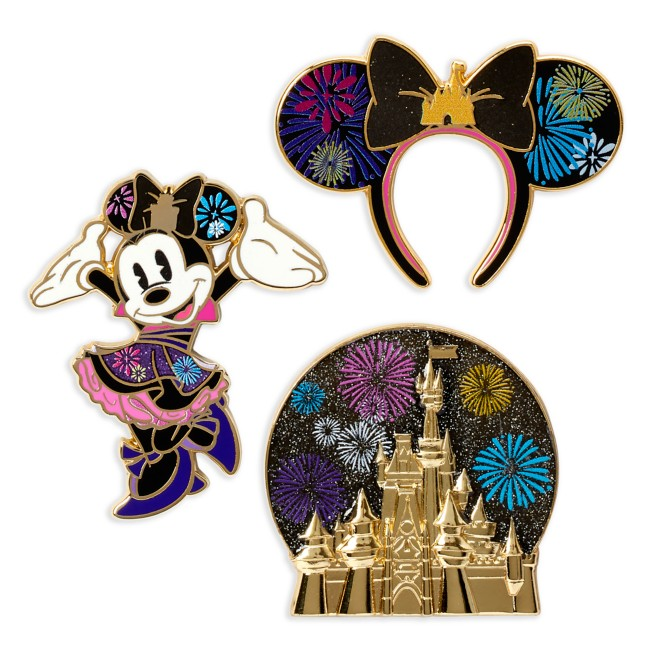 Minnie Mouse: The Main Attraction Pin Set – Nighttime Fireworks & Castle Finale – Limited Release