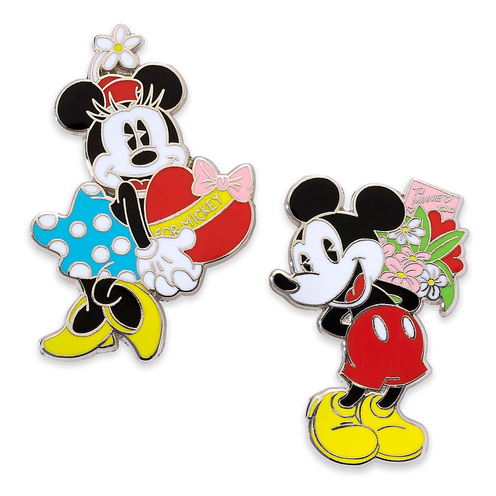 Mickey and Minnie Mouse Couples Pin Set