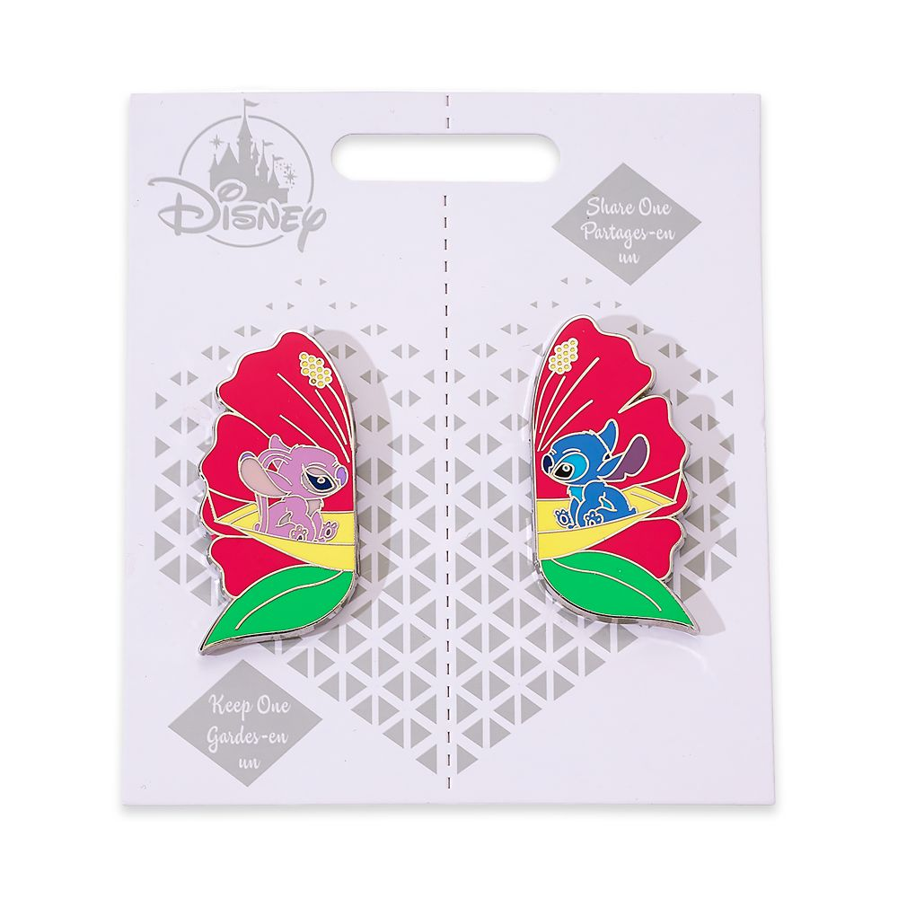 Stitch and Angel Couples Pin Set