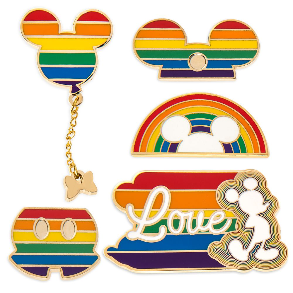 Rainbow Disney Collection Mickey Mouse Pin Set  2020  Limited Release