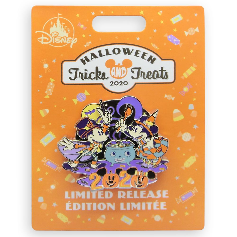 Halloween 2020 Disney Pins Mickey and Minnie Mouse Tricks and Treats Pin – Halloween 2020