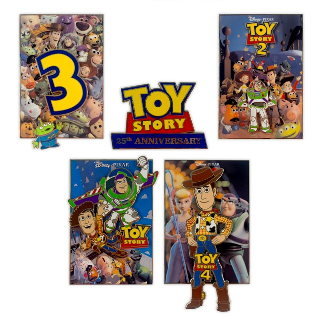 Toy Story 25th Anniversary Pin Set – Limited Edition