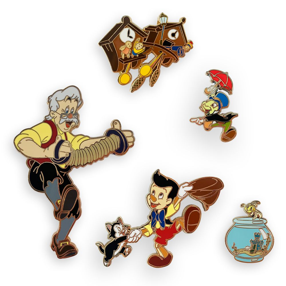 Pinocchio 80th Anniversary Pin Set – Limited Edition