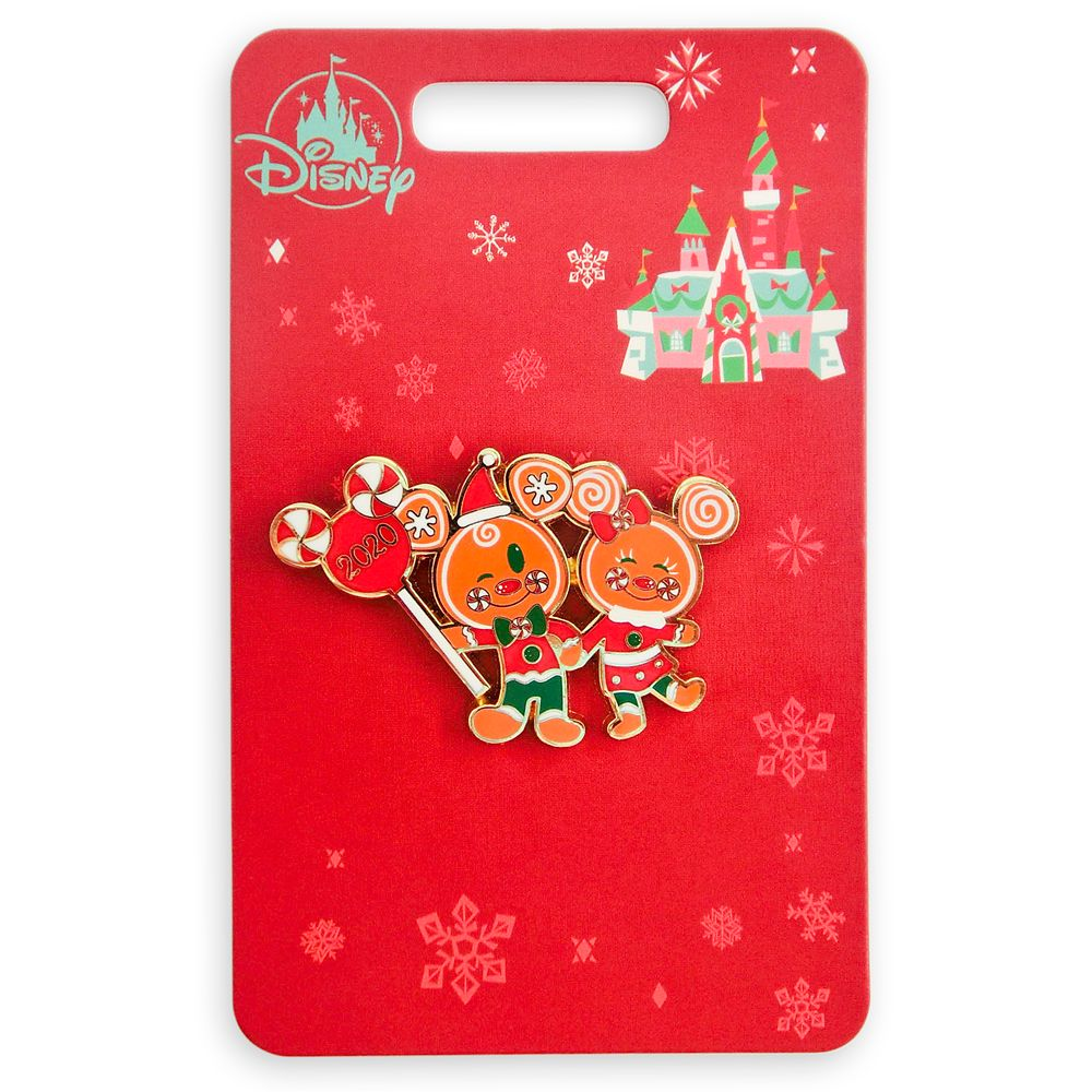 Mickey and Minnie Mouse Gingerbread Holiday 2020 Pin