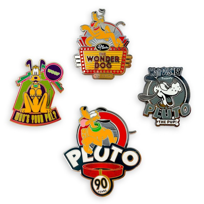 Pluto 90th Anniversary Pin Set – Limited Edition