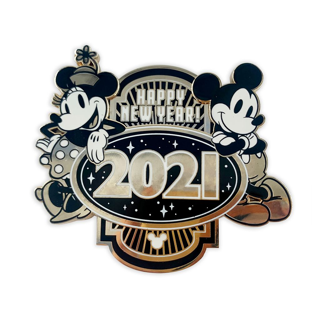 Mickey and Minnie Mouse Happy New Year 2021 Pin - Limited ...