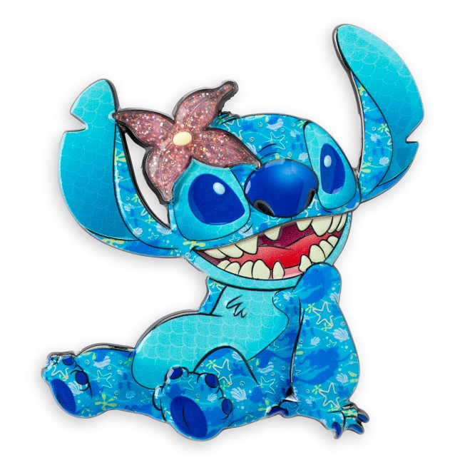 Stitch Crashes Disney Jumbo Pin – The Little Mermaid – Limited Release