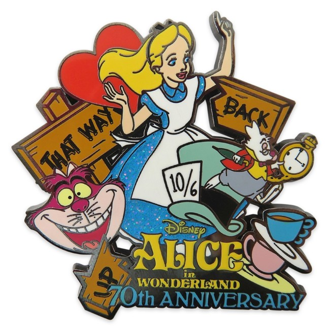 Alice in Wonderland 70th Anniversary Pin – Limited Release