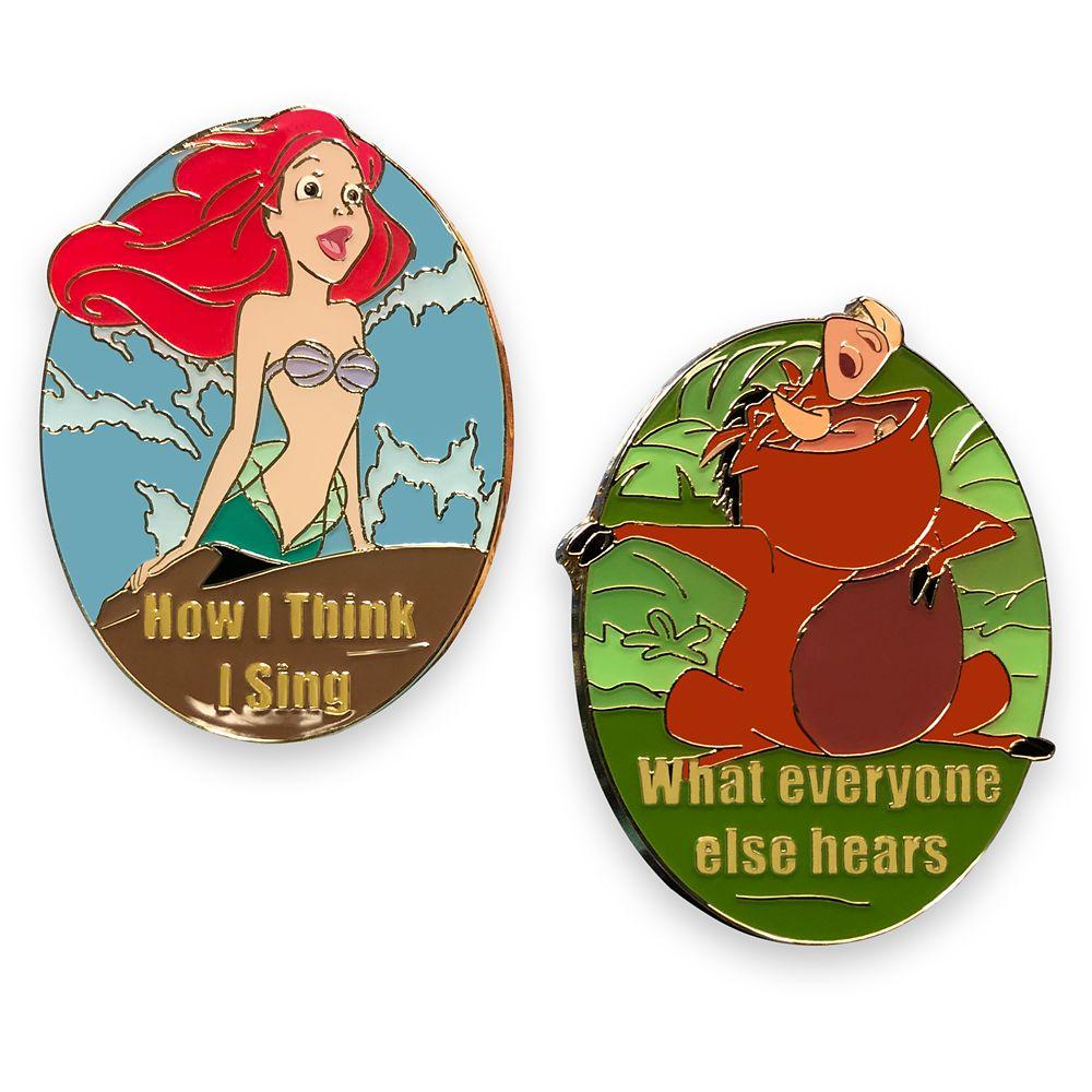 Ariel and Pumbaa Meme Pin Set